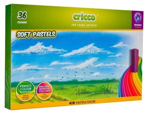 Pastele suche Cricco, 36 kolorów