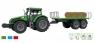 Traktor z przyczepą z belami, dźwiękami i światłem