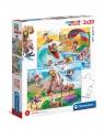 Puzzle SuperColor 2x20: Let's Sport! (24780)