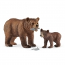 Matka grizzly z małym niedźwiedziem - Schleich (42473)