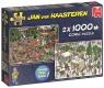 Puzzle 2x1000 Haasteren Świąteczne prezenty G3