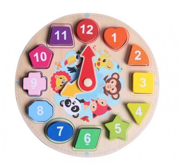 Zegar drewniany układanka do nauki (11018)