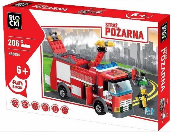 Klocki Blocki: Straż pożarna. Wóz gaśniczy 206 elementów (KB8054)