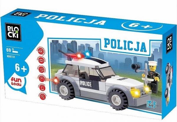Klocki Blocki: Policja. Radiowóz 69 elementów (KB6731)