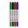 Pisaki Toma dwustronne suchościeralne, 4 kolory (TO-27003)