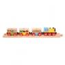 Pociąg drewniany z owocami i warzywami