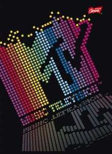 Zeszyt A5/60k kratka, laminowany MTV