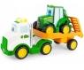 John Deere - laweta z przyczepą, rampą oraz traktorem Johhnym (LP73807)