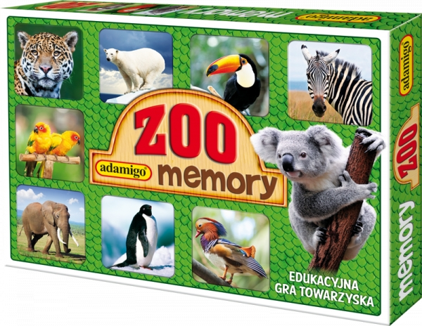 Memory ZOO - Edukacyjna gra towarzyska (3051) Pogorzelska Julia
