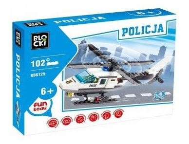 Klocki Blocki: Policja. Helikopter 102 elementy (KB6729)
