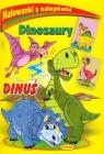 Malowanki z nalepkami Dinozaury Dinuś
