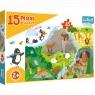 Puzzle Maxi 15: Zwierzątka i ich domki (14280)