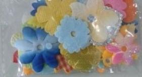 Dekoracje materiałowe kwiaty mix 30 szt. F008
