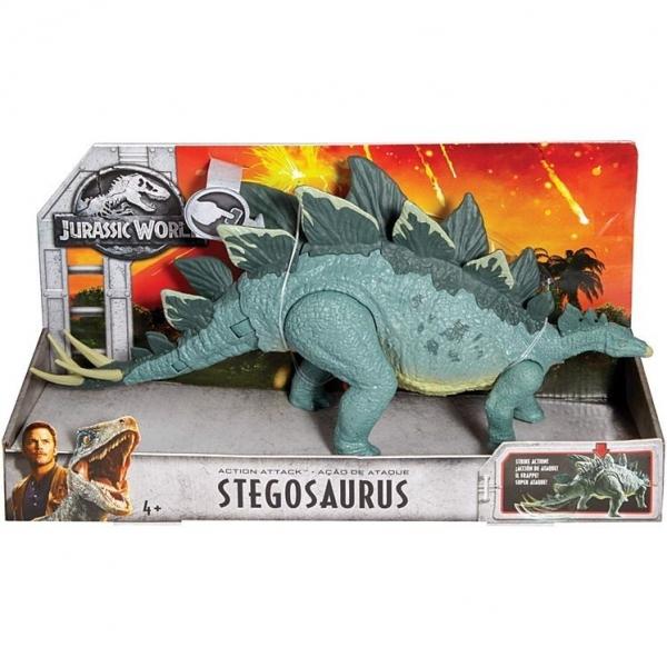 JURASSIC WORLD ACTION ATTACK Stegosaurus (FMW87/FMW88)