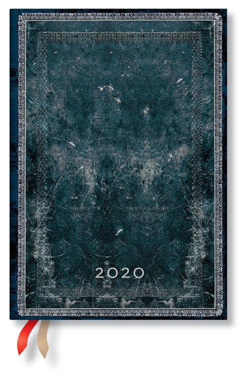 Kalendarz 2020 książkowy Midi Horizontal Midnight Steel 12m