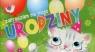 Zaproszenia urodzinowe Kotek 5 sztuk
