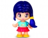 Pinypon City - laleczka Emoji 7cm z akcesoriami. Seria 10 - niebieskie włosy