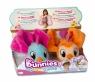 Bunnies Friends: Pluszowy ptaszek z magnesem 2-Pak - pomarańczowy i