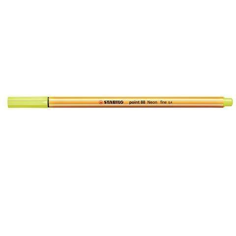 Cienkopis Point neonowy żółty (10szt) STABILO