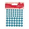 Brokatowe wypukłe naklejki Papermania Teal 60 szt. PMA-805910