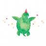 Karnet Swarovski kwadrat Zielony żółw