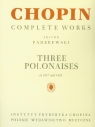 Chopin Complete Works Trzy polonezy 1817-1821