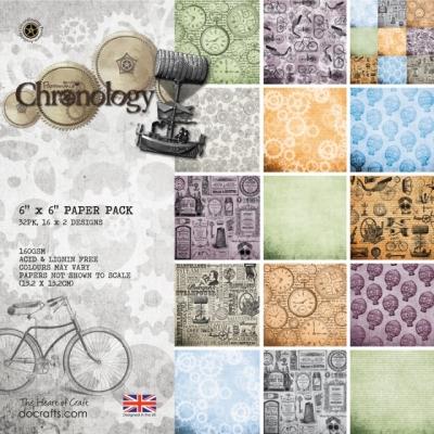 Zestaw papierów 15,2X15,2CM PAPERMANIA CHRONOLOGY (32 kartki) PMA-160134