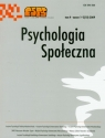 Psychologia społeczna  1-2 2009 Tom 4