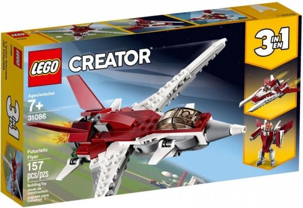 Lego Creator: Futurystyczy samolot (31086)