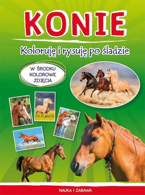 Konie Koloruję i rysuję po śladzie Myślak Monika