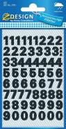 Naklejki do domu - czarne cyfry (3781)