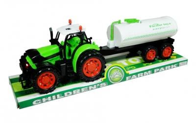 Traktor z cysterną