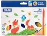 Kredki świecowe Milan Pastipastel trójkątne, 24 kolory (022T24)