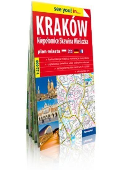 Kraków Niepołomice, Skawina, Wieliczka plan miasta 1:22 000 praca zbiorowa