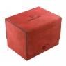 Ekskluzywne pudełko Sidekick Convertible na 100+ kart - Czerwone (00814)