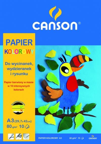 Papier kolorowy A3/10ark. 80g (400075203) .