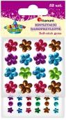 Kryształki samoprzylepne Kwiatki 52 sztuki