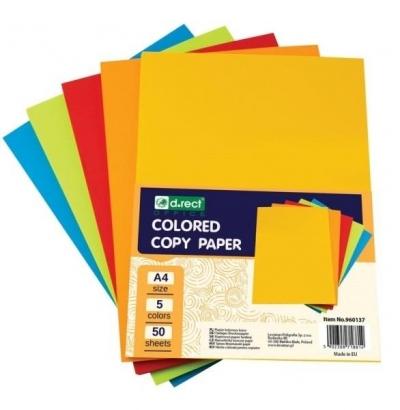 Papier A4 ksero kolorowy mix kolorów D.RECT