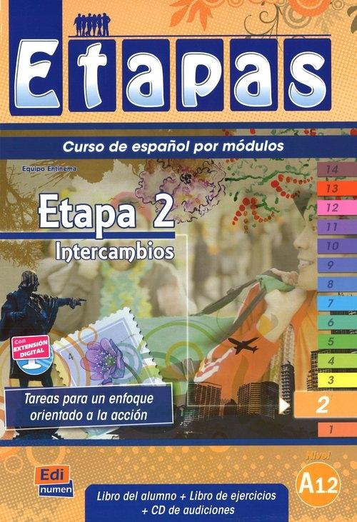 Etapas 2 Podręcznik + ćwiczenia + CD Entinema Equipo