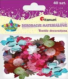 Dekoracje materiałowe kwiaty liście 40 szt. F015 284824