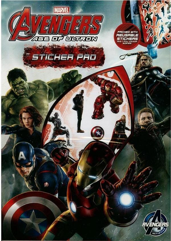 Zestaw wyklejanek z naklejkami. Avengers II