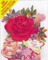 Karnet składany 3D - Róża z tortem