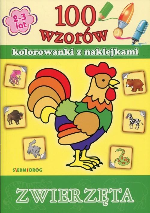 100 wzorów Zwierzęta Kolorowanki z naklejkami