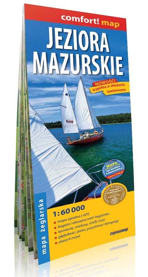 Jeziora Mazurskie Mapa żeglarska 1:60 000