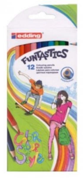 Kredki 12 kolorów Funtastics Color Your Style (5/12/C AX)