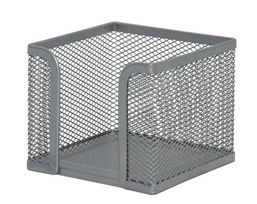 Pojemnik na karteczki Office Set metalowy srebrny