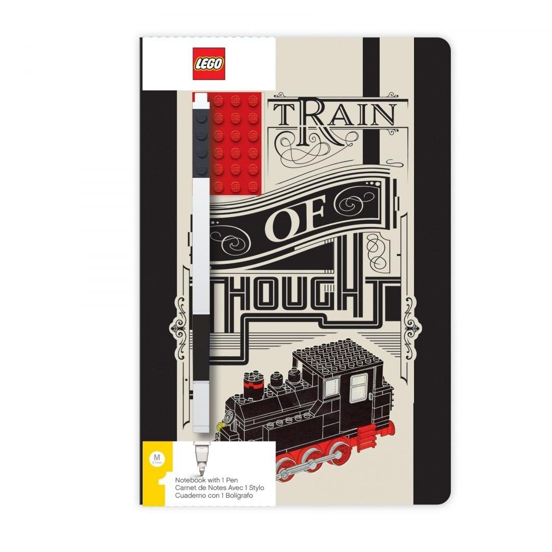 Notatnik LEGO® Train of Thought z płytką i długopisem (52381)