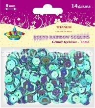 Dodatek dekoracyjny Titanum tęczowe cekiny błękitne 14g