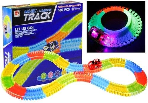 Neonowy Tor Samochodowy + Auto LED Świeci 160PCS