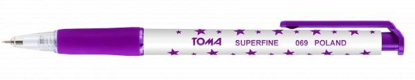 Długopis automatyczny w gwiazdki Superfine (TO-069 52)